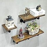 Health UK Shelf- DIY Wasserpfeifen-Gestell-Massivholz-Regal-Retro- industrielles Wand-hängendes Schmiedeeisen-Bücherregal welcome (Farbe : B)