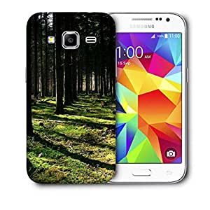 Snoogg Cutting Down The Trees Printed Protective Phone Back Case Cover For Samsung Galaxy CORE PRIME