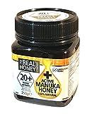 THE REAL HONEY Company NATUREL + actif Miel Manuka 20 + 250 g - Pack of 2