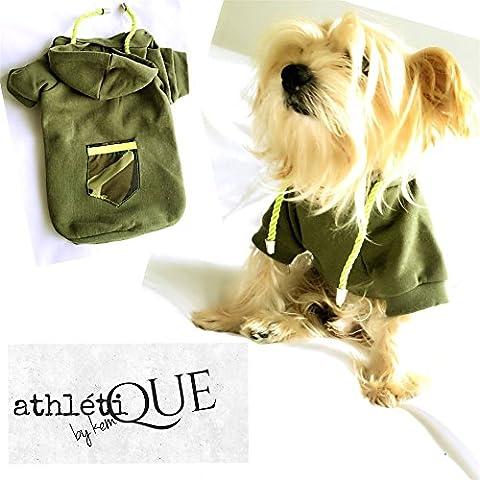 Athletique par Kemique–Vert Camuflage Sweat à capuche pour chiens de