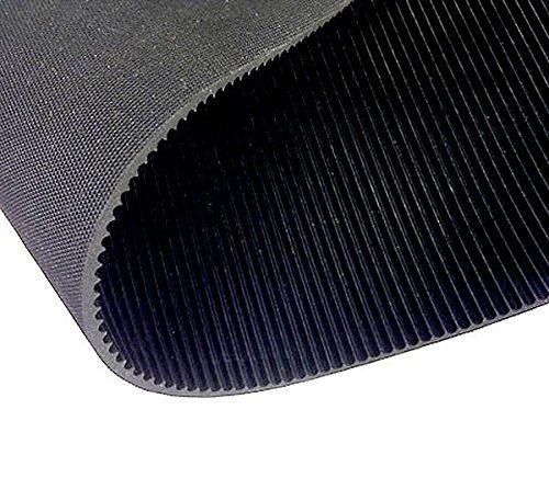 Premium Feinriefenmatte - Stärke 3mm - Schwarz - Anti Rutsch (7m² - 1m x 7m)