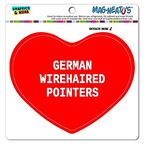 MAG-NEATO'S(TM) Car Refrigerator Vinyl Magnet I Love Heart Dogs D-M - German Wirehaired Pointers