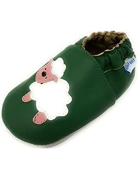 MiniFeet Weiche Leder Babyschuhe, Baby Jungen und Mädchen, Schaf