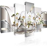 murando - Bilder 100x50 cm - Vlies Leinwandbild - 5 Teilig - Kunstdruck - Modern - Wandbilder XXL - Wanddekoration - Design - Wand Bild - Abstrakt Blumen a-A-0004-b-n