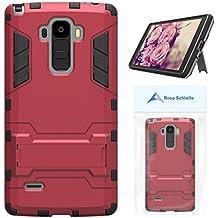 """Rosa Schleife® Ultra Delgada LS770 Funda de Protección Híbrido Armadura Escabroso Caso Doble Capa Carcasa Trasera Función de Soporte Funda de Móvil Para LG G4 Stylus/LS770/LG G Stylo (5.7"""")(Rojo)"""