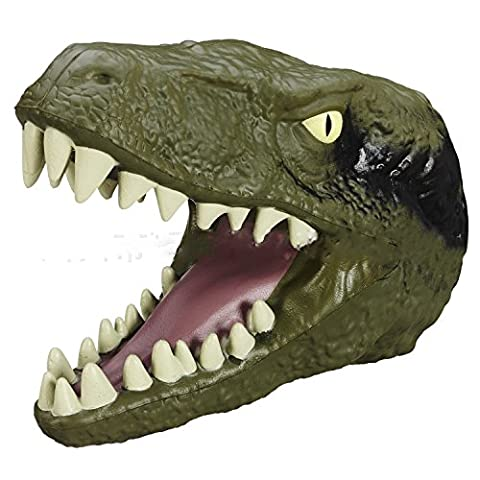 GbaoY Hand Puppet Soft Hand Puppet Rubber Realistic 7 Inch Jurassic Realistic Tyrannosaurus Rex Dinosaur Head
