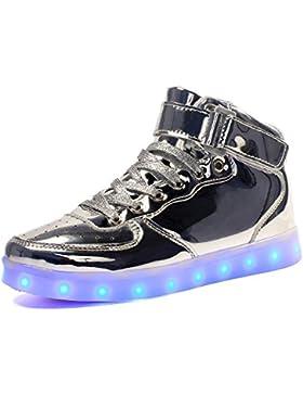 [Patrocinado]Maniamixx LED High-top Carga Zapatillas infantil luminoso casual sneaker para Niños Niñas