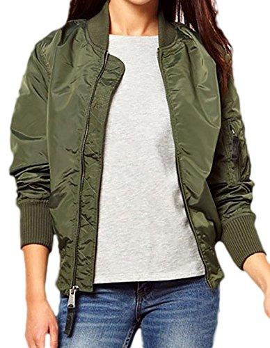 3476b9607e5a erdbeerloft - Damen Sportliche Jacke mit Reißverschluß, XS-XL, Viele Farben  Grün