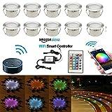 10er-Set Wifi LED Bodeneinbauleuchten (Amazon Alexa & Google Home)