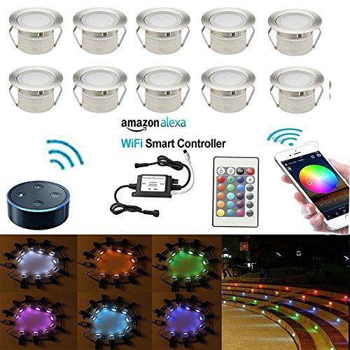 Konto Ein Hinzu Sie Fügen (LED Bodeneinbauleuchten Arbeitet mit Alexa,IFTTT,Wifi Wireless Smart Phone Ø45mm IP67 Wasserdicht LED Einbaustrahler Full Kit)