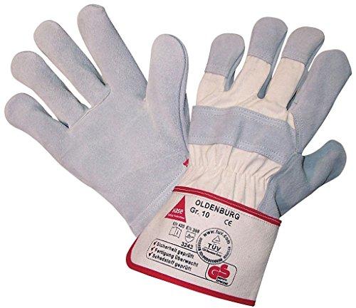 - Spaltleder-arbeits-handschuhe (12 Paar - OLDENBURG, 5-Fg.-Sicherheitshandschuhe aus Spaltleder - HASE - 212100 - Größe 10)