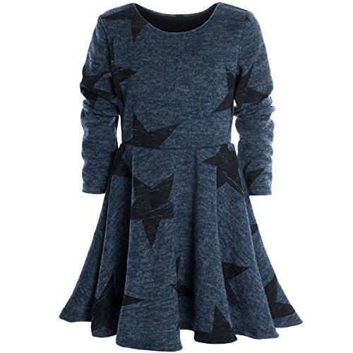 Mädchen Kinder Spitze Winter Kleid Peticoatkleid Festkleid Lang Arm Kostüm 20678