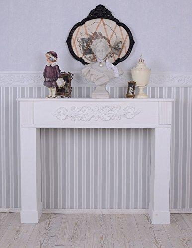 Kaminverkleidung Dekokamin Weiss Kaminkonsole Shabby Chic Kamin Palazzo Exclusiv
