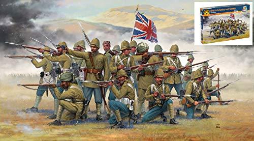 British infantry and sepoys (colonial wars) kit 1:72 - italeri - kit figure militari - kit di montaggio