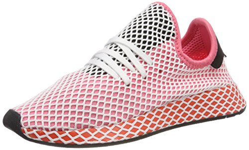 adidas Deerupt Runner, Chaussures de Running Femme, Rose (Chalk Pink/Chalk Pink/Bold Orange 0), 39...