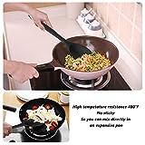 CRMICL 20 Stück Silikon-Küchengeräte, WisFox Kochgeschirr Stücke Hitzebeständiges Silikon-Geschirr Küchenhelfer Set, Antihaft-Küchenbackwerkzeuge 10 Sätze + 10 S-Haken -Schwarz - 7