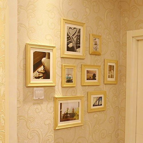 Massivholzrahmen Wand, mediterrane Fotowand, Multi Bilderrahmen Set, Bilderrahmen. ( Farbe : 2# )