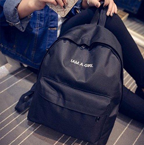 Dairyshop Donna di modo estivo Rainbow unicorno Cola a forma di sacchetto di spalla borsa telefono sacchetto (bianco) nero