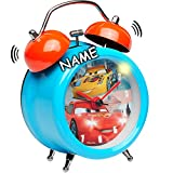 alles-meine.de GmbH LED Licht - Wecker -  Disney Cars / Lightning McQueen - Auto  - inkl. Name -..