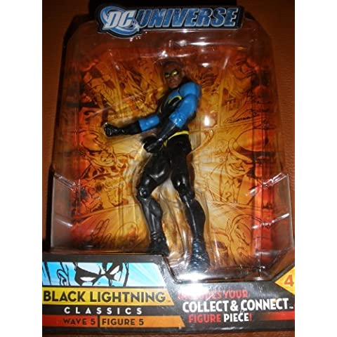 DC Universe Classics Series 5 Exclusive Action Figure Black Lightning Build Metallo Piece! by DC Comics