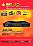 SOLID HDS2-6069 Free-to-Air MPEG-4/ DVB-S2/ PVR IT BOX This set-top box is best for low space in your home, You can connect this free-to-air Full HD set-top box to any LED or LCD TV for best viewing experience. Features and Functions: Fully complaint...