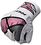 RDX MMA Handschuhe Sparringhandschuhe Leather-X GGR-T7, pink, S