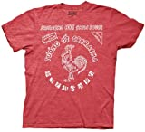 Sriracha Bottle Label Erwachsene rot T-Shirt (XX-Large)