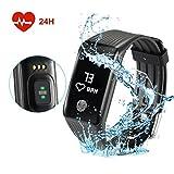 Inteligente Pulsera Fitfirst Fitness Tracker Reloj Monitor de Pulso Cardiaco Impermeable 67 GPS para Correr Pulsera Actividad Pantalla Táctil OLED Bluetooth 4.0 Contador de Calorias/Monitor de Sueño/Contador de Pasos/Alarma para Smartphone de Android y IOS