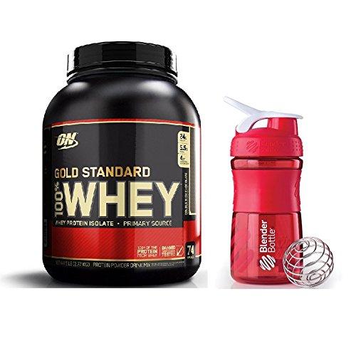 Optimum Nutrition Gold Standard Double Rich Chocolate 2.27kg with Blender Bottle Sportmixer