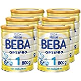 Nestlé BEBA OPTIPRO 1 Anfangsmilch, altersgerecht sättigende Baby-Milch, Milchpulver, für Säuglinge, ab Geburt, 6er Pack (6 x 800 g)