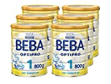 Nestlé BEBA Optipro 1 Anfangsmilch, von Geburt an, Pulver, 800 g Dose, 6er Pack (6 x 800 g)
