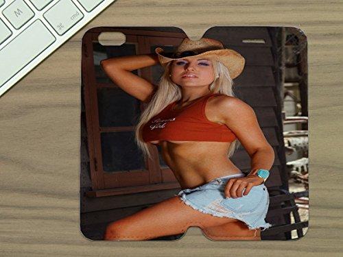 (LEotiE SINCE 2004 Handyhülle Schutzhülle Lederhülle Passend für iPhone 6 Sexy Fun Sexy Girl Pin up Blond)