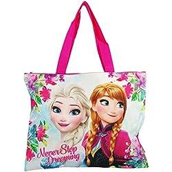 Disney Frozen Never Borsa da Mare Donna Ragazza/o Capiente a Mano Shopping Pic Nic