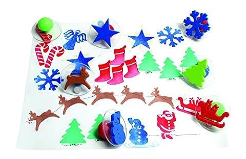 GIANT CHRISTMAS STAMPS SET OF 10