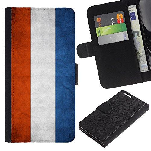 """Graphic4You Vintage Uralt Flagge Von Italien Design Brieftasche Leder Hülle Case Schutzhülle für Apple iPhone 6 Plus / 6S Plus (5.5"""") Niederlande Holländisch"""