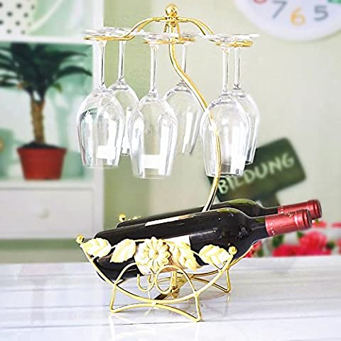XQXModa rosso vino rack portabottiglie in ferro