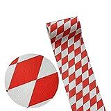 50m x 0,20m JUNOPAX® Papier Tischband raute weiß-rot | nass- und wischfest