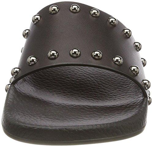 HUGO Damen Uptown Slide-s Pantoletten Schwarz (Black 001)