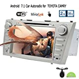 Cam¨¦ra arri¨¨re + EinCar Android 7.1 Car Stereo Head Unit Double Din 2 Go de RAM Navigation GPS Lecteur DVD automobile pour Toyota Camry Dash Bluetooth Audio Vid¨¦o Fastboot support wifi 64Go USB / SD / OBD2 / DAB ¨¦cran miroir
