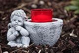 Grabschmuck Grablicht Engel , frost- und wetterfest bis -30°C, handgearbeitet