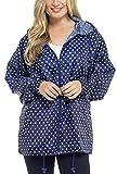 STORM RIDGE donna punti PACCO AWAY impermeabile giacca - Blu, Large