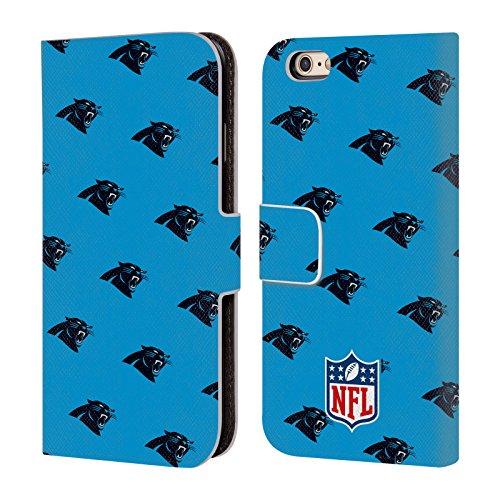 Officiel NFL Marbre 2017/18 Carolina Panthers Étui Coque De Livre En Cuir Pour Apple iPhone 6 / 6s Modèles