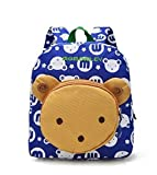 Flyingsky Bear Animals Kids Book Backpack Baby Girls School Bag (Blue)