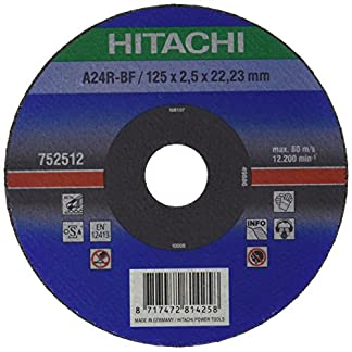 Hitachi 752512 Disco de corte, 125 x 2,5 x 22,2 mm, metal