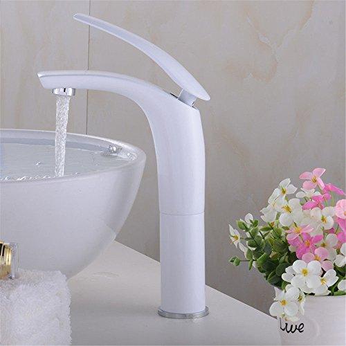NewBorn Faucet Wasserhähne Warmes und Kaltes Wasser große Qualität der Tap Kaltes Wasser tippt auf der Konsole Tisch Becken voll Kupfer Wasser Weiß Tippen