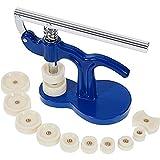 Uhrenwerkzeug Uhr Einpresswerkzeug Uhrenschließer Gehäuseschließer - STAGO Uhren Reparatur Werkzeug mit 12 Druckplatten