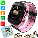 Kinder Smartwatch - Kinder Intelligente Uhr LBS Tracker, Kids Smart Watch mit Anruf Sprachchat SOS Wecker Spiele, Kinder Smar
