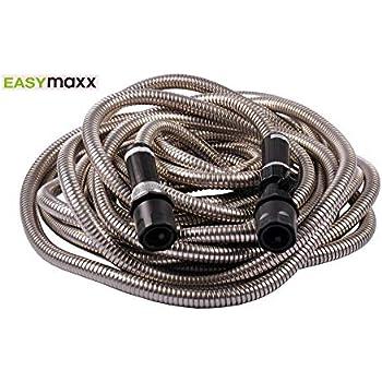 EASYmaxx 15m Edelstahl-Gartenschlauch 2,2kg Wasserschlauch Bewässerung Schlauch