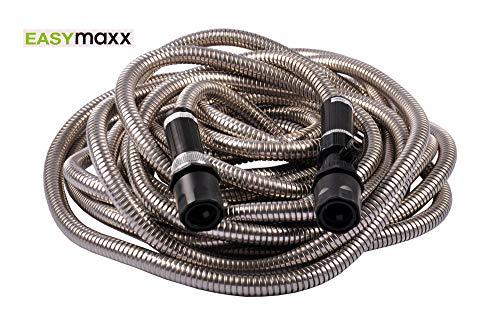 EASYmaxx 03865 Gartenschlauch | Edelstahl; Flexibel; Unknickbar; Extrem Robust | 15m