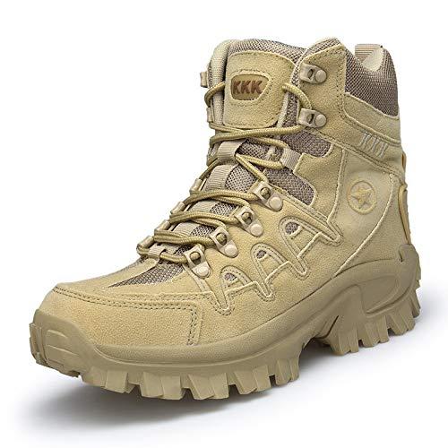 Scarpe da Trekking da Uomo per Lo Sport Scarpe da Trekking Antiscivolo per Esterno Stivali da Trekking per Esterno Impermeabili Color Sabbia 44